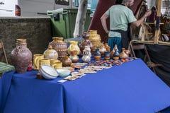 Veda ³ BÃ, Луго, Испания, 14-ое июля 2018: Ремесленничество справедливое Outrora Rubian стоковая фотография rf