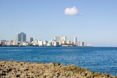 Vedado, de Baai van Havana Royalty-vrije Stock Foto