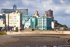 Vedado, view from El Malecon, Havana Royalty Free Stock Images