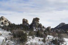 Vedauwoo岩石  免版税图库摄影