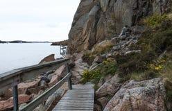 Veddoarkipelagen walking track in sweden Royalty Free Stock Photos