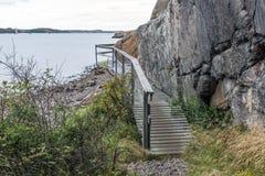 Veddoarkipelagen walking track in sweden Stock Image