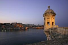 Vedette che trascura Valleta fotografie stock libere da diritti