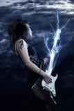 Vedette du rock de femme Photos stock