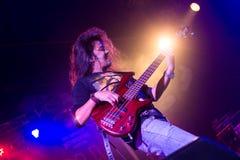 Vedette du rock, fond vivant de concert Images libres de droits