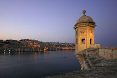 Vedette Overlooking Valleta royalty free stock photos