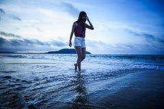 Vedi il mare in vacanza immagini stock libere da diritti