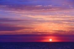 Vedi il tramonto fotografie stock