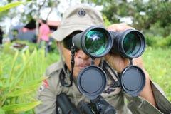 Vedi l'obiettivo per sparare Immagine Stock