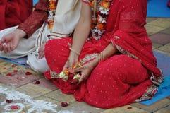 Vedic Hochzeit Stockfoto