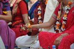 Vedic Huwelijk Stock Afbeeldingen