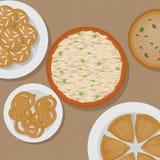Vedic Indian cuisine, set of vegetarian healthy food top view Stock Image