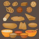 Vedic Indian cuisine, set of vegetarian healthy food Royalty Free Stock Images