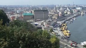 Vedio στην πόλη του Κίεβου απόθεμα βίντεο