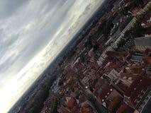 Veduta panoramica di Bruges Fotografia Stock Libera da Diritti