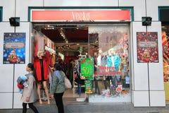 Veeko商店在洪kveekoong 免版税库存照片