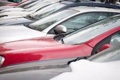 Veel auto's royalty-vrije stock fotografie