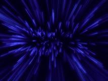 Veel blauwe deeltjesemissie Stock Illustratie