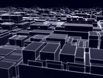 Veel computer geproduceerde kubussen Stock Illustratie