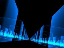 Veel fantasie transparante kubussen Vector Illustratie