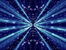 Veel fantasiedeeltjes met blauw glanzen Stock Afbeelding