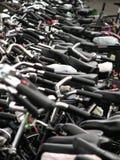 Veel fietsen royalty-vrije stock foto's