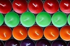veel-gekleurde kaarsen Royalty-vrije Stock Foto's