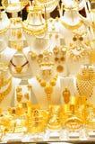 Veel gouden juwelen Royalty-vrije Stock Foto's