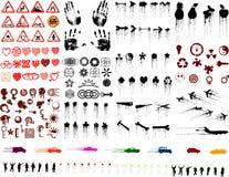 Veel grungebeelden (vectoren Stock Afbeelding