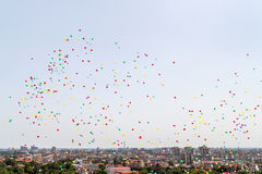 Veel helium baloons Stock Foto's
