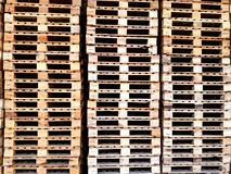 Veel houten pallet Royalty-vrije Stock Fotografie