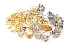 Veel juwelen Royalty-vrije Stock Afbeeldingen