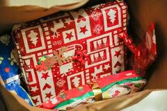 Veel Kerstmisgiften Royalty-vrije Stock Fotografie