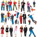 Veel kleurenmensen illustrat Stock Foto