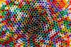 Veel kleurrijk stro voor dranken Stock Foto's