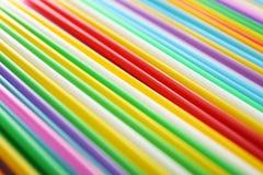 Veel kleurrijk stro voor dranken Stock Fotografie
