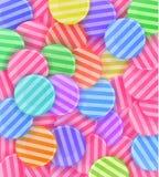 Veel kleurrijk suikergoed stock illustratie