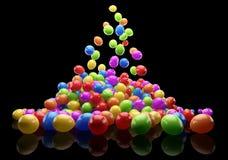Veel kleurrijke ballons Stock Afbeeldingen