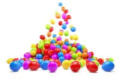 Veel kleurrijke ballons Royalty-vrije Stock Fotografie