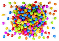 Veel kleurrijke ballons Stock Afbeelding