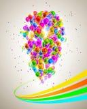 Veel kleurrijke ballons Royalty-vrije Stock Afbeeldingen