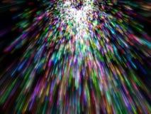 Veel kleurrijke deeltjesemissie Vector Illustratie
