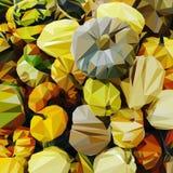 Veel kleurrijke pompoenen royalty-vrije illustratie