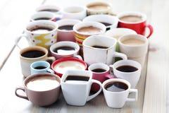 Veel koffie! stock fotografie