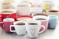 Veel koffie! royalty-vrije stock fotografie