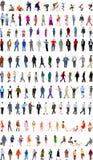 Veel mensenillustraties stock afbeeldingen
