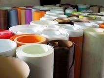Veel multicolored document broodjes stock afbeelding