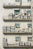 Veel Openluchteenheid van Airconditioningstoestel stock fotografie