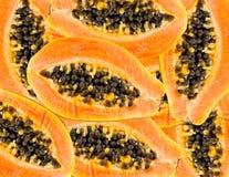 Veel papaja's Stock Afbeeldingen
