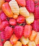 Veel peper in een zak Stock Afbeeldingen